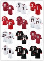 5235e50dc custom Georgia Bulldogs football jerseys  3 Todd Gurley 7 Matthew Stafford  Aaron Murray 11 Greyson Lambert 27 Nick Chubb 34 Herschel Walker