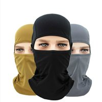 Wholesale anti uv mask resale online - Motorcycle Balaclava Full Face Mask Warmer Windproof Breathable Paintball Cycling Ski Shield Anti UV Men Sun Hats Helmet