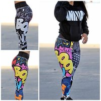 Wholesale cute trousers for sale - Group buy Womens Cute Little Monster Leggings Pants Print Hip Lifting Active Yoga Trousers High Waist Summer Home Clothes gg E1