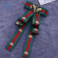 хорошие свадебные рубашки оптовых-Ткань лук броши для женщин галстук стиль брошь Pin свадебное платье рубашка брошь Pin ручной работы аксессуары хороший подарок