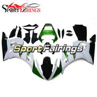 ingrosso r1 rivestimenti fimer-Completi carene Sportbike Adatte per Yamaha YZF-600 R6 Anno 2003 2004 Carene plastiche ABS di alta qualità 2003 2004 Carrozzeria ad iniezione Bianco Verde