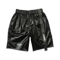 calças de praia para mulheres curtas venda por atacado-Homens mulheres calças curtas Webbing calções casuais praia kenye west hip hop streetwear Cordão Shorts Casuais