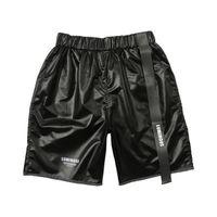 strandhose für kurze frauen großhandel-Männer Frauen kurze Hosen Gurtband Strand lässige Shorts Kenia West Hip Hop Streetwear Drawstring Casual Shorts