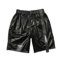 ingrosso pantaloni da spiaggia per donne corte-Pantaloncini da uomo donna pantaloncini casuali da spiaggia spiaggia kenye west hip hop streetwear con coulisse shorts casual