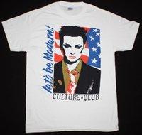 neue wellen t-shirts großhandel-CULTURE CLUB LET'S MODERN BOY GEORGE NEW WAVE BOW WOW WOW NEW WHITE T-Shirt aus