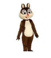 ingrosso costume da abito scoiattolo-2019 Factory Outlets hot Scoiattolo costume della mascotte scoiattolo mascotte del fumetto costume in maschera costume Halloween Fancy Dress Natale per la Festa Ev