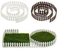 Wholesale miniature wood house kits for sale - Group buy DIY Accessories Decor Miniature Fairy Garden Kit Wood Fence Terrarium Doll House Decor