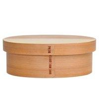 ingrosso bocce in legno giapponese-scatola di pranzo giapponese bento legno naturale fatto a mano di legno contenitore di sushi da tavola ciotola contenitore di alimento 2 colori di trasporto