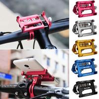 bisiklet için cep telefonu tutacağı toptan satış-Metal Bisiklet Bisiklet Tutucu Motosiklet iPhone Cep Telefonu GPS Için Kolu Telefon Dağı