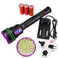 Wholesale power driving for sale - Group buy 15000 lumens lights L2 diving high power strong light flashlight long shot king L2 lights
