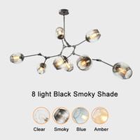 branch chandelier toptan satış-Avizeler aydınlatma modern kolye lambaları yenilik kolye ışıkları doğal ağaç dalı süspansiyon Noel otel yemek odası led ışıkları