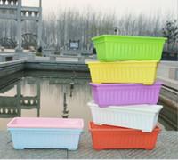 ingrosso vasi da giardino della resina-Fioriere in resina all'ingrosso vasi da piantare vasi rettangolari Le piantine verdi da giardino possono essere dotate di vassoi