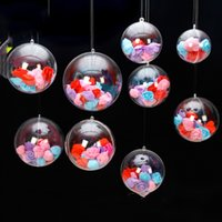 Wholesale ornaments transparent plastic ball resale online - New Design Christmas Decorations balls openable Transparent Plastic Christmas tree Ornament Party Holliday clear balls cm