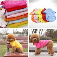 orange polo-stil hemden großhandel-Haustier-Polo-Shirt-Hundekleidung-Art- und Weisebaumwollkleidung-Hundewelpen-klassisches Kragen-Polo-T-Shirt Herr-Art-Baumwollhaustier-Kleidung XS-XL 658