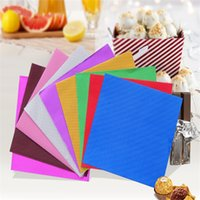 Wholesale foil wrapped chocolates for sale - Group buy 8x8cm Aluminum Foil DIY Candy Chocolate Packaging Paper Gift Package Party Birthday Wrapper Paper Sticker cyq00105