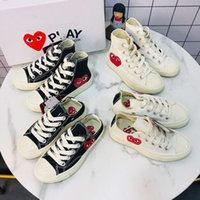 Wholesale canvas women skate shoes resale online - CDG Play chuck s Hi Low Vulcanized All Pink Green Canvas Big Eyes Star Mens Women Skate Casual Shoes Fashion KIDS Sneakers