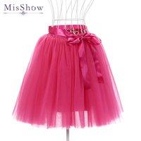 Wholesale underskirt swing vintage resale online - 15 colors petticoat short Skirt Polyester Ruffle Tutu Petticoat Skirts Vintage Rockabilly Swing Cosplay Underskirt In Stock