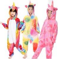 ingrosso anime tuta-27 DESIGN Kigurumi Pigiama Per Bambini Unicorno Anime Panda Tutina Costume Bambini Sleepwear Tuta Costume Cosplay Sleepwear KKA6348