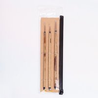 Wholesale chinese brush set resale online - High Quality pc set Bk Kolinsky Hair Bamboo Handle Chinese Painting Supplies Art Calligraphy Watercolor Paint Brush Set Y19061804