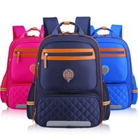 Wholesale blue stripped bags resale online - Kids School Bag Reflective Strip Backpack Schoolbag Waterproof Nylon School Bag For Girls Boys Children Backpack Mochila Escolar J190522