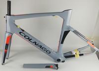 bicicletas de carretera al por mayor-Nuevo 2019 colnago Concept Road Bicyle Cuadro de carbono Cuadro de bicicleta de carbono Tamaño XXS, XS, S, M, L, XL Juego de cuadros BB386