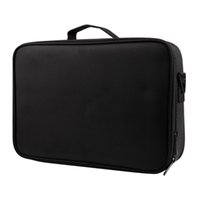 Wholesale train case cosmetic bags resale online - Large Capacity Makeup Case Layers Cosmetic Organizer Brush Bag Makeup Train Case Artist Box For Hair Curler Hair Stra