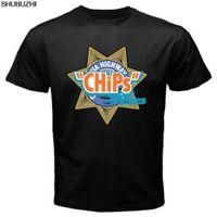 Wholesale wholesale california online - Chips Movie California Highway Men s Black T Shirt Size Cartoon t shirt men Unisex New Fashion tshirt