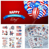 ingrosso bandiera americana art-5.7 * 9.7cm Impermeabile American Flag Tattoo Sticker Independence Day Cartoon Kids Body Art Make Up Tools Accessori del fumetto CCA11659 3000pcs