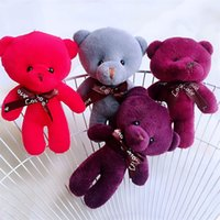 Wholesale wedding bears plush toys resale online - Plush Doll Toys Multi Colors Birthday Present Little Bear Dolls Wedding Company Small Gift Pendants New Arrival bh L1