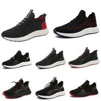 estilo atlético para hombre al por mayor-los hombres zapatos para correr Triple Negro Blanco Rojo Zapatos para hombre entrenadores de moda al aire libre atlético zapatillas de deporte de la vendimia 39-44 Estilo 4 gota Shippin