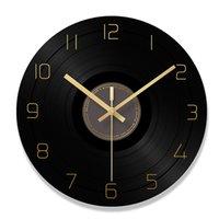 registros de sala venda por atacado-Relógio De Parede De Registro Uma Sala De Estar Rodada Originalidade Relógio Superfície Concisa Personalidade Moderna Atmosfera Da Família De Quartzo Mudo