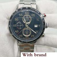 reloj de pulsera calibre 16 al por mayor-Relojes de pulsera para hombre tamaño 44mm CAL 1887 relojes automáticos de deslizamiento suave. Caja negra de acero inoxidable. Reloj calibre 16.