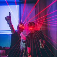 novo led dj venda por atacado-Novo Design Party DJ Led máscara rápida piscando Wireless Laser Óculos, iluminação luminoso Glowing Brinquedos para a dança DJ