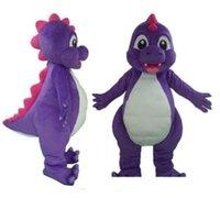 desgaste da mascote venda por atacado-Terno roxo quente do traje da mascote do dinossauro de Dino da alta qualidade para que o adulto vista