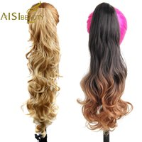 Wholesale claw clip wavy hair for sale - Group buy AISI BEAUTY Long Wavy Synthetic Claw Clip Ponytail Hair Extensions can be curled High Temperature Fiber Hairpieces for Women