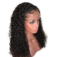Wholesale brazilian human hair wigs for sale - Curly Brazilian x6 Lace Front Human Hair Wigs Pre Plucked With Baby Hair Remy Hair Deep PartFull Lace Wigs