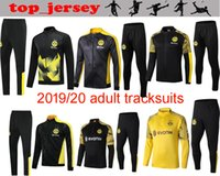 Wholesale football training kits for sale - Group buy Size S XL New BVB Borussia Dortmund Soccer Full Kit zipper Training Jacket football GOTZE REUS WITSEL jacket Warm up suit Tracksuit