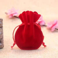 pequenos sacos de corda de casamento venda por atacado-50pcs / lot 7 * 9 centímetros Gourd saco de veludo Drawstrings Bolsas Pequenas tamanho jóias de exibição sacos de embalagem do presente de casamento doce da embalagem