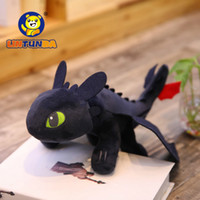 Wholesale toy trains videos for sale - Group buy 35cm How To Train Your Dragon Toys Night Fury Dragon Plush Doll Toys Toothless Dragon Action Figure Toys Children Kids Gift