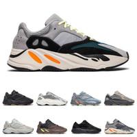 imanes de pvc al por mayor-yeezy 700 v2 boost  hombres mujeres zapatos para correr kanye west Magnet Utility Black Wave Runner Inercia zapatillas de deporte estáticas moda zapatillas deportivas