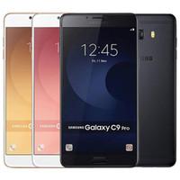 Refurbished Original Samsung Galaxy C9 Pro C9000 Dual SIM 6.0 inch Octa Core 6GB RAM 64GB ROM 16MP 4G LTE Android Smart Mobile Phone DHL 5pc