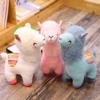 tiere spielzeug für kinder großhandel-Reizendes 25cm Alpaka-Lama-Plüschtier-Puppen-Tier-Plüschtier-Puppen-weiches Plüsch-Alpaka für Kindergeburtstags-Geschenke 4 Farben