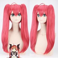 Wholesale red cherry hair clips resale online - Details about Kakegurui rd Mushibami Erimi Cosplay Wig Cherry Red Clip Ponytail Hair Wig