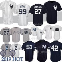 ingrosso babe xxl-99 Aaron Judge Maglia New York Yankees 2 DJ 27 GS 3 Bambina Ruth 42 Mariano Rivera 7 Maglia Mickey Mantle Top UOMO