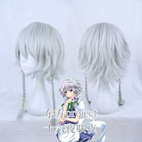 Wholesale silver hair wig cosplay for sale - Group buy Details about Touhou Project Genderbend Izayoi Sakuya Silver White Braided Cosplay Hair Wig