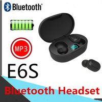 Wholesale displays for cell phones resale online - E6S TWS PK A6S Wireless Bluetooth Earphones Intelligent display In ear Headset with Mic Smart Phone For Universal Cell Phone Earphones