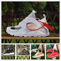 seios ar venda por atacado-Nike Air Huarache 2018 Nova Huarache Ultra Running Shoes 4 Homens E Mulheres Athletic Huaraches Tênis Huraches Câncer De Mama Esportes Formadores Sapatos Tamanho 36-45