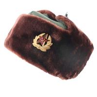 bonés masculinos russos venda por atacado-Russa Chapéu Morno Lei Feng Chapéu À Prova de Vento À Prova D 'Água Das Mulheres Dos Homens Ao Ar Livre Espessamento Ao Ar Livre Ear Flaps Bomber Caps