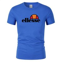 горячие летние рубашки для мужчин оптовых-Дизайнер бренда мода лето мужская футболка лето хлопок футболка скейтборд хип-хоп улица футболка спорт и отдых горячая ELLESSE одежда