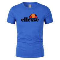 t shirt erkek için moda toptan satış-Tasarımcı marka moda yaz erkek T-shirt yaz pamuklu Tişört kaykay hip hop sokak T-shirt spor ve eğlence sıcak ELLESSE giyim
